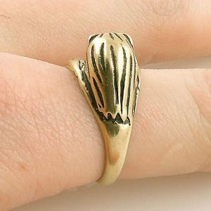 Animal Wrap RIng - Gold Lion