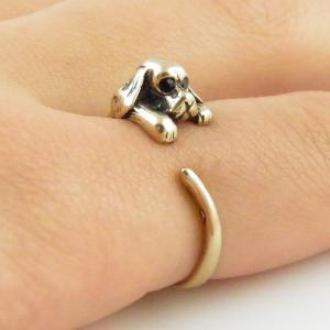 Animal Wrap Ring - Spaniel Dog - Go..