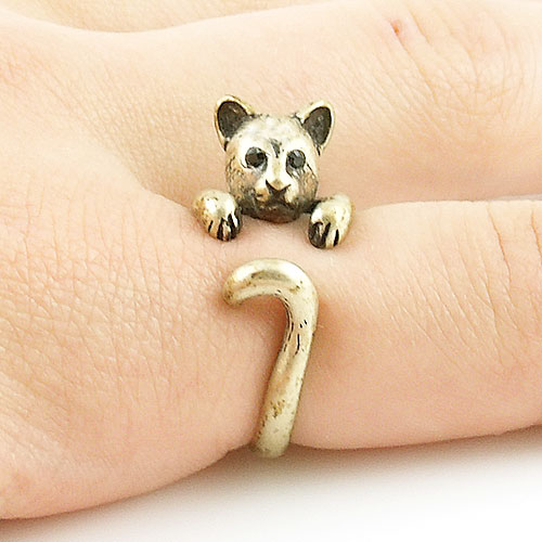 Cougar Animal Wrap Ring - Gold