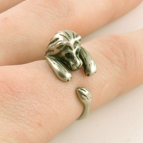 Animal Wrap Ring - Silver Lion
