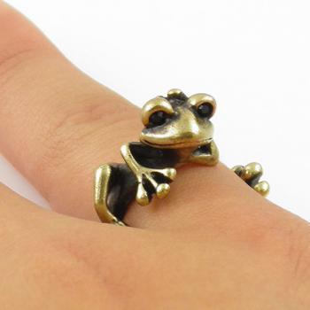 Animal Wrap Ring - Chillin' Tree Frog - Gold