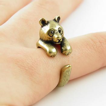 Animal Wrap Ring - Gold Bear