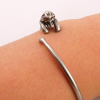 Animal Wrap Bracelet - Lion - SIlver